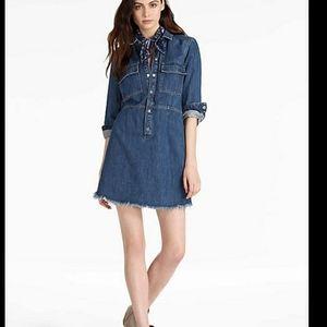 Lucky Brand Surplus Denim Dress With Raw Hem
